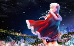 漂亮的红衣女孩